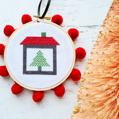 Christmas on the Farm Cross Stitch Ornament