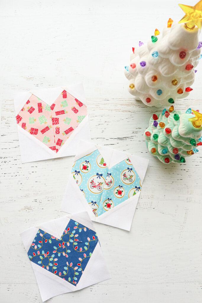 Heart Blocks - Christmas Adventure Row Quilt