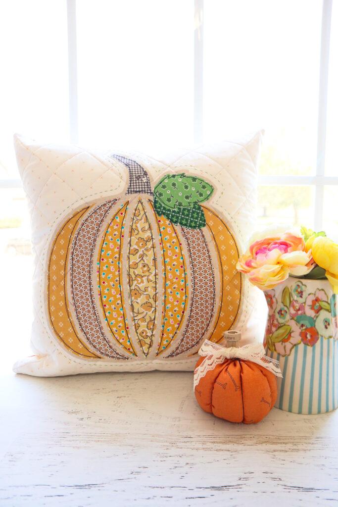 Fall Pumpkin Pillow Sew Along - Week 3