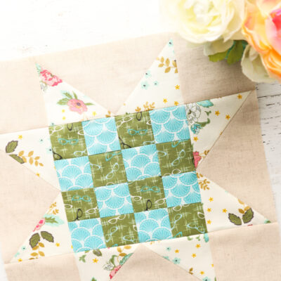 Checkerboard Star Block – Building Blocks Quilt