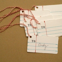 Anthro Penmanship Gift Tags